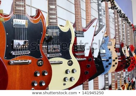 Hangszer bolt illusztráció üzlet zene kiskereskedelem Stock fotó © adrenalina