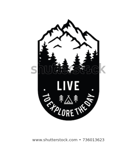 Summer mountain badge and outdoor logo, emblem label. Live the Journey concept, colorful design. Bes Stock photo © JeksonGraphics