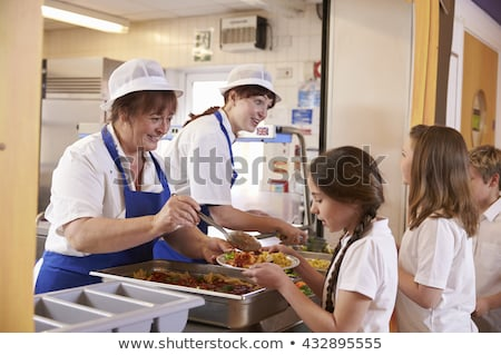 Woman working at canteen Stock photo © bluering