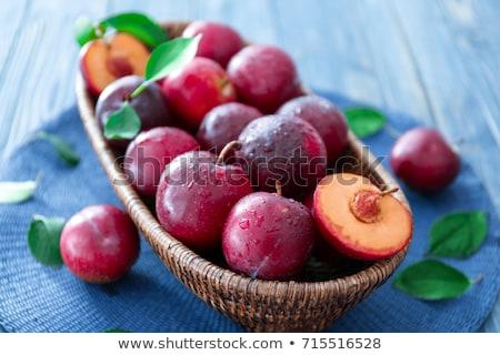 Fresh ripe plums Stock photo © Digifoodstock