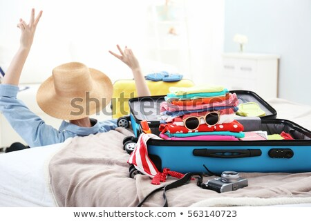 Female going to sea with flippers Stock photo © dash