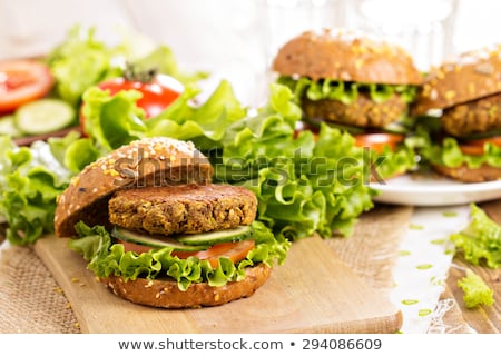 vegan burger with chickpea and lentils stock photo © m-studio