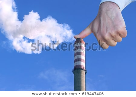 Man with hand making stop to environmental pollution Stock photo © smuki