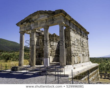 pillar ruins of the ancient greek city of messinia peloponnese greece stock photo © ankarb