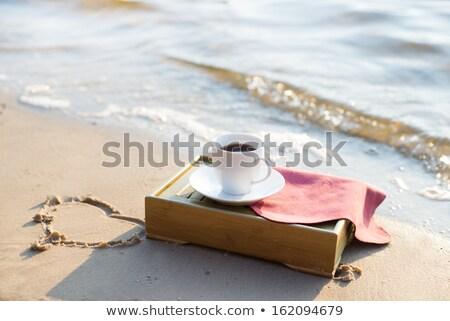 девушки · еды · кафе · пляж · лет · праздников - Сток-фото © fisher