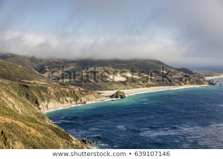 Big sur coast near Point Sur light house in late afternoon  Stock photo © meinzahn