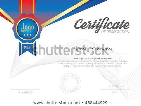 certificaat · waardering · moderne · sjabloon · ontwerp · succes - stockfoto © decorwithme