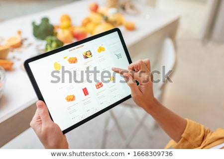 Digital tablet by vegetables Stock photo © wavebreak_media