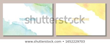 watercolor vector frame template stock photo © orson