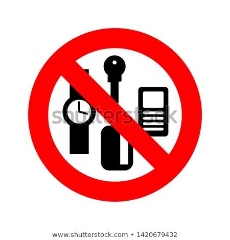 Parada personal cosas prohibir claves teléfono Foto stock © popaukropa
