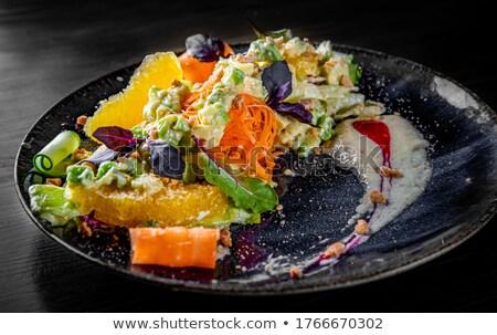 Turp salatalık salata turuncu plaka dilimleri Stok fotoğraf © Digifoodstock