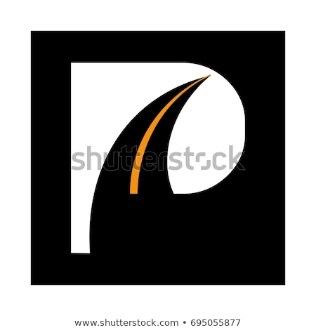 Letter P on asphalt road Stock photo © stevanovicigor