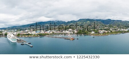 Papeete city view from the sea, Tahiti Stock photo © daboost