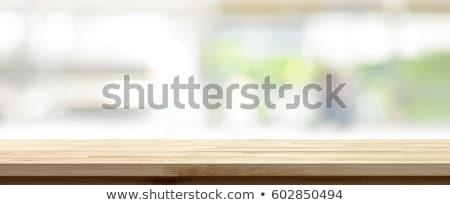 blurred kitchen interior for web design stock photo © artjazz