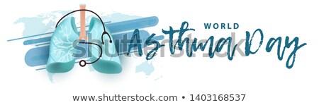 banner bronchial asthma stock photo © olena