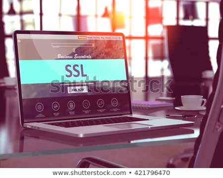 ssl · securitate · verde · buton · alb · Internet - imagine de stoc © tashatuvango