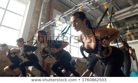 Stock fotó: Csoportkép · súlyzós · edzés · tornaterem · férfi · egészség · képzés