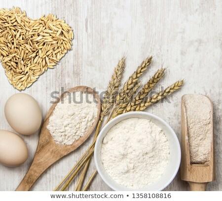 Szív búza liszt szív alak rajzolt fehér Stock fotó © Digifoodstock