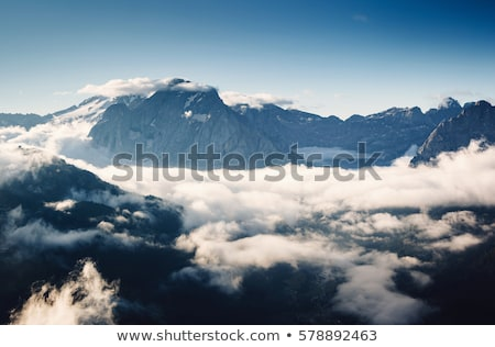 Cremoso niebla cubierto glaciar ubicación lugar Foto stock © Leonidtit