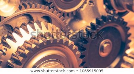 Golden Metallic Cog Gears with Steel Industry Concept. Stock photo © tashatuvango