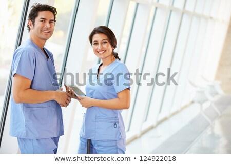 два · женщины · Постоянный · больницу · коридор - Сток-фото © monkey_business