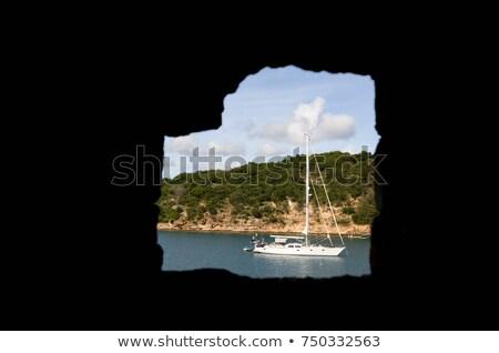 Yacht Englisch Hafen Eingang Natur Bilderrahmen Stock foto © IS2