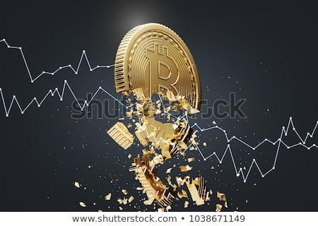 crash · bitcoin · financiële · business · geld · abstract - stockfoto © Anna_leni
