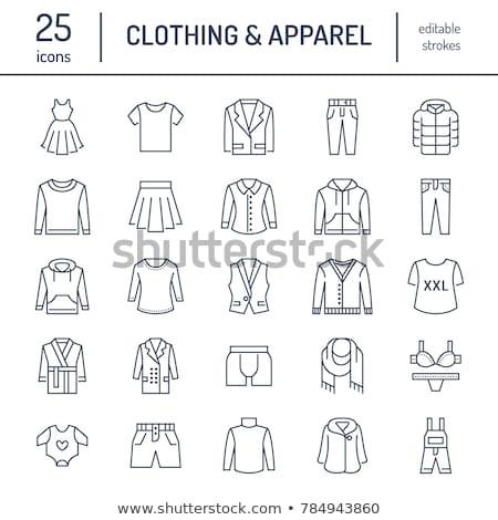 baby · abbigliamento · line · icona · vettore · isolato - foto d'archivio © RAStudio