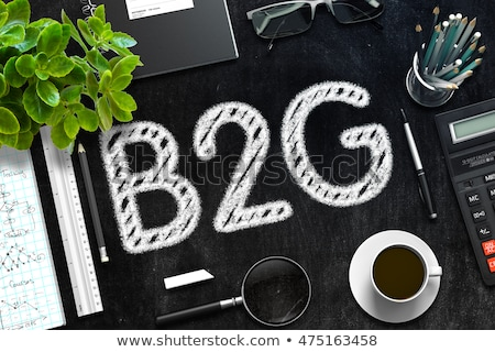 Black Chalkboard with B2G Concept. 3D Rendering. Stock photo © tashatuvango