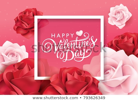 valentines day greeting card with red roses stock photo © karandaev