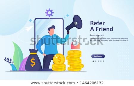 Megafon pénz repülés ki üzlet marketing Stock fotó © Krisdog