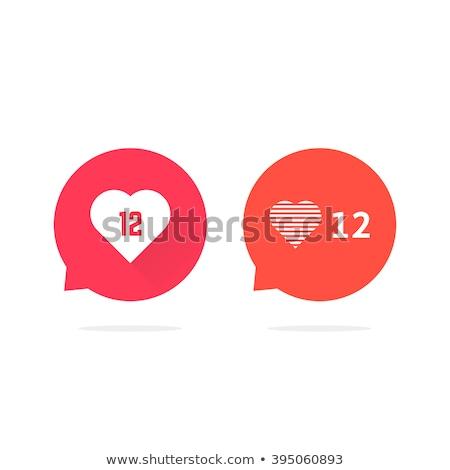 Szövegbuborék matrica szívek ahogy pult értesítés Stock fotó © ikopylov