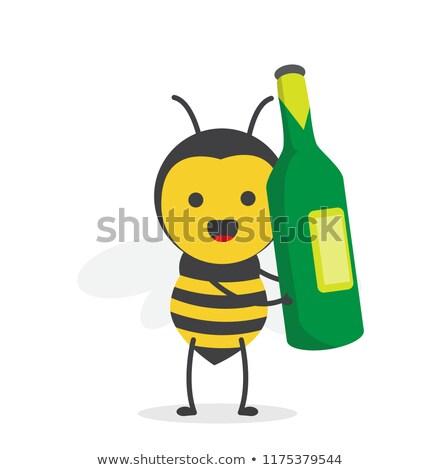 Buzzed Bee Drink Honey Beer Stock photo © lenm