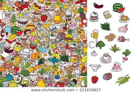 Rejtett egészségtelen étel diéta elhízottság válság csoport Stock fotó © Lightsource