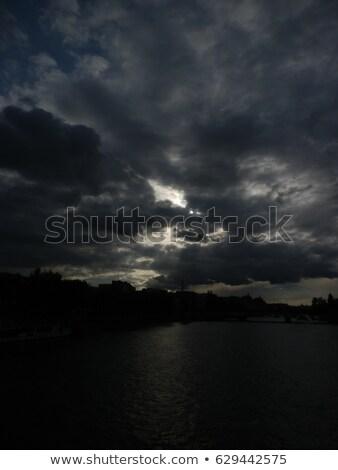 Stock fotó: Felhős · égbolt · Párizs · hölgy · párizsi · városkép