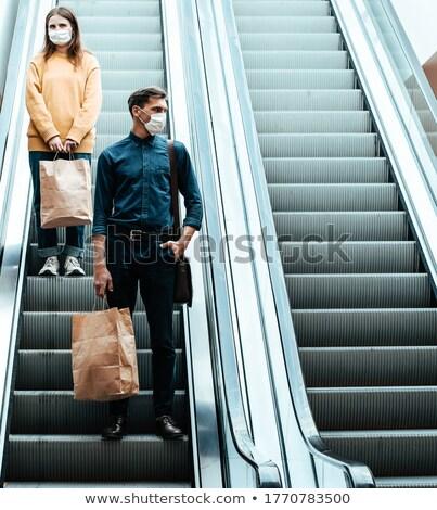 эскалатор · город · группа · городского · рабочих - Сток-фото © is2