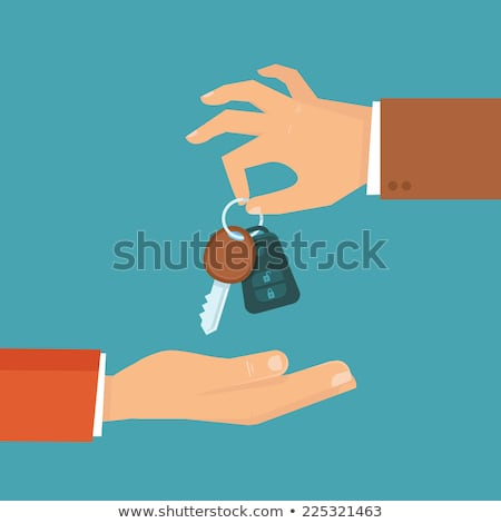 Hand car with key vector illustration Stock photo © vectorworks51
