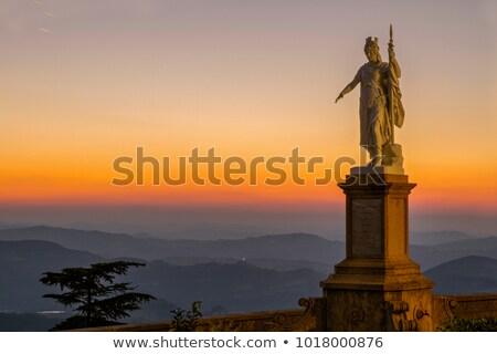 Szobor hörcsög San Marino Olaszország óra építészet Stock fotó © goce
