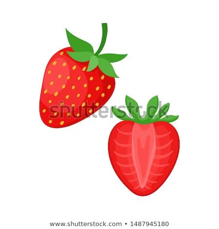 клубника Ломтики розовый фрукты красный еды Сток-фото © ConceptCafe