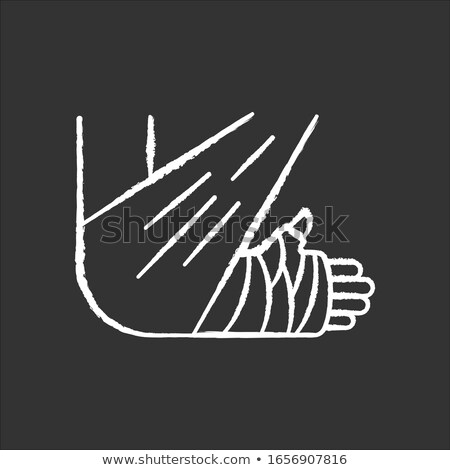 A hand with a wound hand drawn outline doodle icon. Stock photo © RAStudio