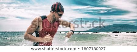 Cardio Homme main santé demande icônes Photo stock © ra2studio