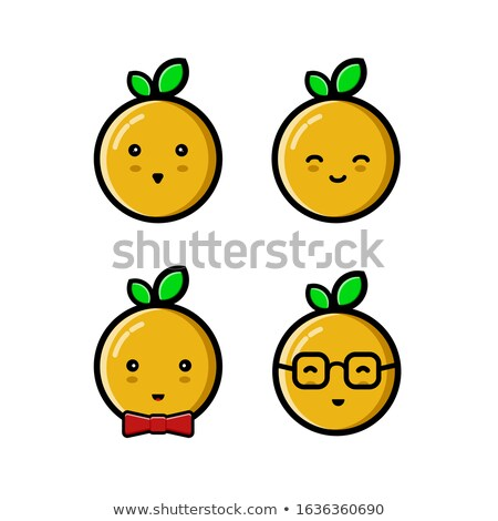 Fruits mascottes livre coloré illustration fruits Photo stock © lenm