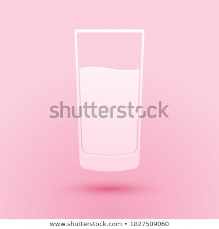 Limpar vidro água rosa papel sombras Foto stock © artjazz
