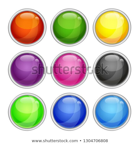 colorfull shiny button with metallic elements vector design for website stock photo © olehsvetiukha