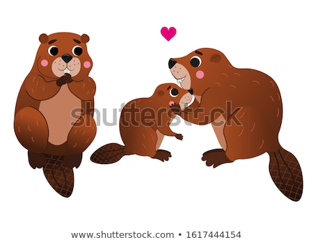 Little Beaver in Love Stock photo © cthoman