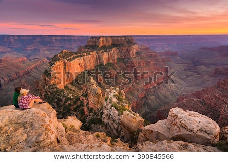 Foto stock: Ocidente · Grand · Canyon · Arizona · EUA · sol