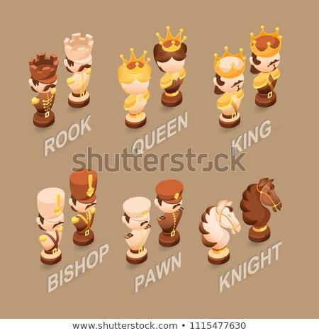 Cartoon Chess Knight Sign Stock photo © cthoman