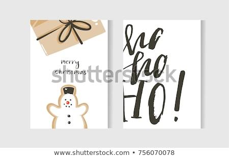 красивой пряничный Рождества плакат печать Сток-фото © balasoiu