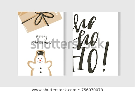 beautiful christmas card with gingerbread stock photo © balasoiu