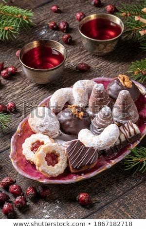Photo stock: Noël · cookies · épinette · deux · séché